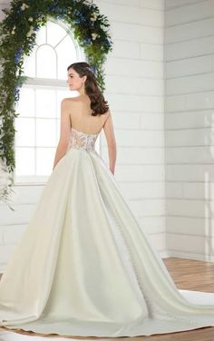 85ad4cb4e92 D2486 Modern Sheer Ballgown Wedding Dress by Essense of Australia Essense  Of Australia Wedding Dresses