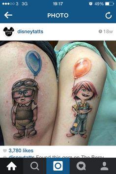 Disney up tattoo