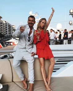 Friday night with @dawid_wolinski at the @martinipolska yacht party Dress @lamaniafashion  #Monaco #Nights   #playwithtime #MartiniRacing #ZacznijZMartini #GrandPrix