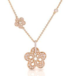A phenomenal signature pave pendant from the Boodles Blossom collection. Set with round-brilliant cut diamonds. Rose Gold Pendant, Diamond Pendant, Diamond Jewelry, Flower Fashion, Handmade Silver, Jewelry Sets, Wedding Jewelry, Jewelery, Fashion Jewelry