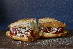 meatball sub  with caramelized onions in its final minutes of life