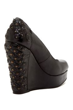 C.K. Studded Platform Wedge - They look good in black too.