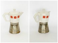 Vintage Coffee Maker /Coffe Pot with Porcelain Top by DoubleRandC