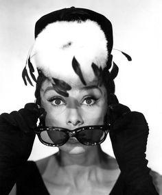 Audrey Hepburn. Hat: Givenchy. #BreakfastatTiffanys
