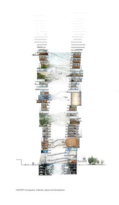 """SURE Wins Competition with """"Endless City"""" Skyscraper,© SURE"""