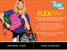 FlexPay, Buy Now Pay Later - It's Better than Layaway | HSN
