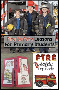 Fire safety is an important part of primary school learning. This fire safety set will teach your students valuable lessons that they can take home to practice. #firesafetyactivities #firesafetyplan #firesafetyprintables #firesafetybooklet #firesafetylapbook