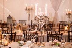 candelabra and roses