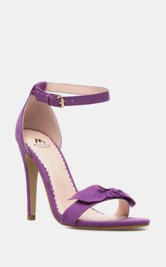 Purple Bow Heel