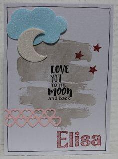 Gemaakt door Joke # Babykaart, Elisa geboren