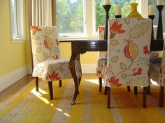 Tie Back and Corseted Slipcovers: A Fun Way to Dress Up Plain ...