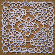 Handmade tatting square doily white by ShopGift on Etsy, $8.00