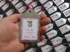 Wedding Thank you tags or favors .Personalised. by JamButtyCrafts, £0.65