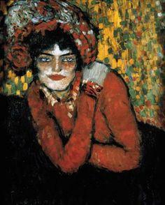 La espera(Margot),1901. Museo Picasso,Barcelona.