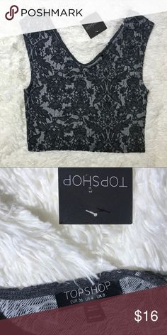a9a54dfb2ae Topshop crop top NWT black and gray size 4 Topshop cropped sleeveless top  color gray with