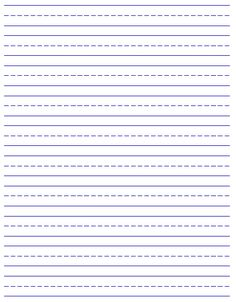Elementary Education grade one writing paper