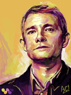 amyzen:  John Watson with lime green and bright purple in his color scheme, requested by tinyratfeet   This is truly amazing, thank you so much for this.