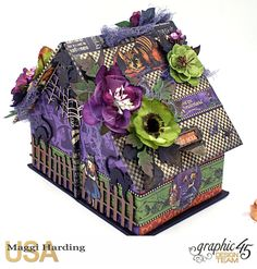 Candy house, Halloween in Wonderland, Maggi Harding, Graphic 45 Spooky House, Halloween Haunted Houses, Magic Of Oz, Scrapbook Examples, Candy House, Halloween Cards, Halloween Ideas, Graphic 45, Trick Or Treat