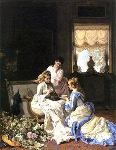 Charles Baugniet. Spring's New Arrivals.