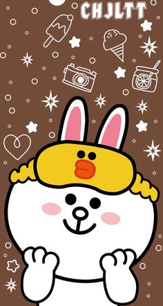 Unyukkk 1440x2560 Wallpaper, Black Wallpaper Iphone, Kawaii Wallpaper, Cute Cartoon Images, Cute Cartoon Wallpapers, Pretty Wallpapers, Line Cony, Cute Couple Wallpaper, Line Friends