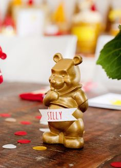 DIY Winnie the Pooh Gold Figure Decoration