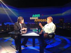 Carlos Alazraki y el maestro Raúl Quintanilla