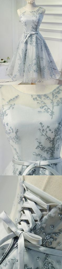 Blue flowers with bow belt