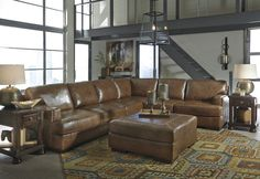 Come See This Nutmeg Colored Sectional On Our Show Floor This Weekend At Akins  Furniture In