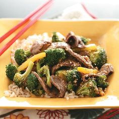Sesame Beef Stir-Fry Recipe -Soy sauce and gingerroot add great flavor to this quick beef stir-fry. It couldn't be simpler to make, but it's definitely elegant enough to serve someone special. Charlene Chambers - Ormond Beach, Florida
