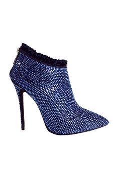 Botas en azul , combina con una tenida en negro y a la disco #moda #estilo