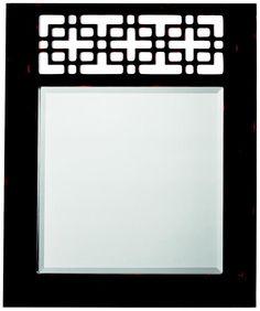 Kichler Fretwork 36 High Rectangular Wall Mirror. Above the vanities?