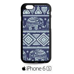 blue tribal elephant aztec iPhone 6S  Case