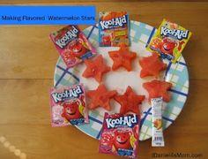 Flavored Watermelon Stars Recipe