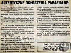 Autentyczne Ogłoszenia parafialne – Potrafią zaskoczyć #polska#humor#pewex