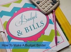 Making A Budget Binder & A List of Free Printable Financial Planning Pages - If software and spreadsheets don't work for you, or you could still use more ideas, try these tips to build your budget binder to help keep you on track every month. living on a budget, personal finance, frugal living, how to keep track of bills