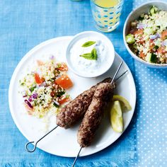 Lamb Kofta with Couscous Salad, a delicious recipe from the new M&S app.