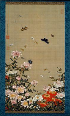 Itō Jakuchu, Peonies and Butterflies