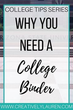 Why You Need a College Binder It's back to school time and I wanted to share something that I think is important for college students, making a college binder. College Binder, College Planner, College Hacks, Weekly Planner, College Essentials, Planners For College Students, College Stress, College Schedule, Study Schedule