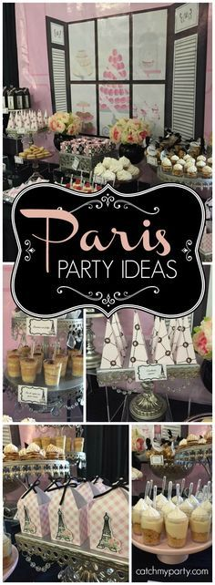 Such a lovely pink and black Paris themed Quinceanera! See more party ideas at Catchmyparty.com!