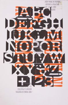 Wood Type Posters by Lindsey Bock at Coroflot.com