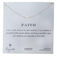 Dogeared Horizontal Cross Faith Necklace