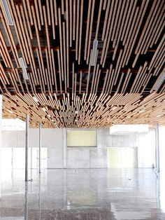 Interesting Ceiling Design. Multimedia Library And HQE Auditorium | deAlzua+ & Atelier 9.81