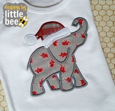 elephant silhouette for Alabama or football by designsbylittlebee Embroidery Files, Embroidery Applique, Machine Embroidery, Christmas Applique, Christmas Embroidery, Applique Designs, Embroidery Designs, Alabama Hats, Christmas Elephant