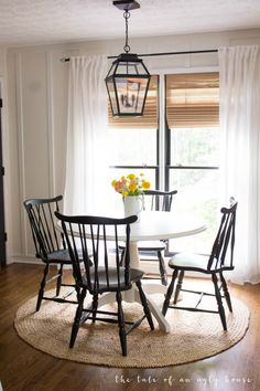Our Freshly Painted Dining Chairs & Our Favorite Furniture Paint Farmhouse Dining Room chairs Dining Favorite Freshly furniture Paint painted Painted Dining Chairs, Outdoor Dining Furniture, Dining Room Chairs, Farmhouse Dining Chairs, Office Chairs, Ikea Linnmon, Small Dining, Dining Room Design, Furniture Makeover