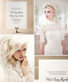 Inspiration for Kelle McCarter's new Gournay design from Bella Figura #lace #wedding