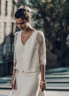 Laure-de-Sagazan-Robes-de-mariee-retro-collection-2016-Photo-Laurent-Nivalle-La-mariee-aux-pieds-nus-Top-Bussy-Jupe-Allais