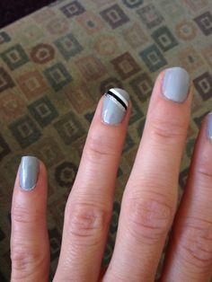 Nail design #gray #nails