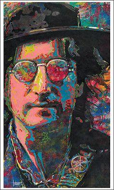 """JOHN LENNON #26/700"""" Imagine"""" beatles art print of original oil painting"""