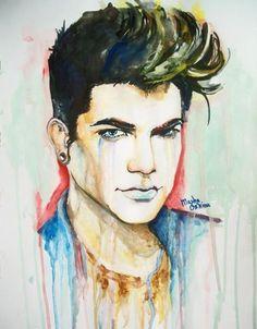 Adam Lambert art by Masha Oskina