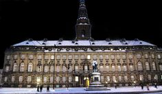 Palace in Copenhagen, Denmark Christiansborg Palace, on the islet of Slotsholmen in central Copenhagen, is the seat of the Danish Parliament, the Danish Prime Minister's Office and the Danish Supreme Court. Wikipedia